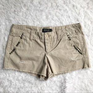 BKE Casuals Devon Khaki Shorts Embellished Sz 29